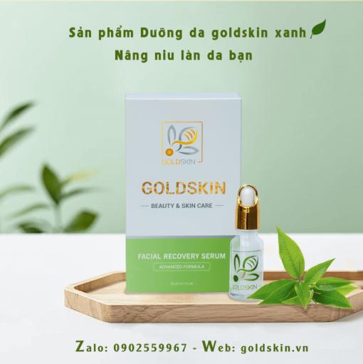 Ngừa mụn phục hồi da goldskin xanh