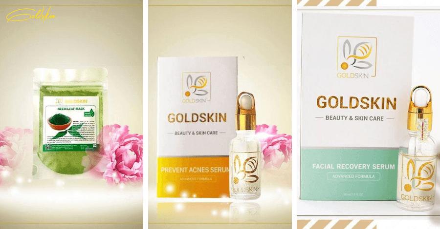 Bộ 3 sản phẩm trị mụn Goldskin