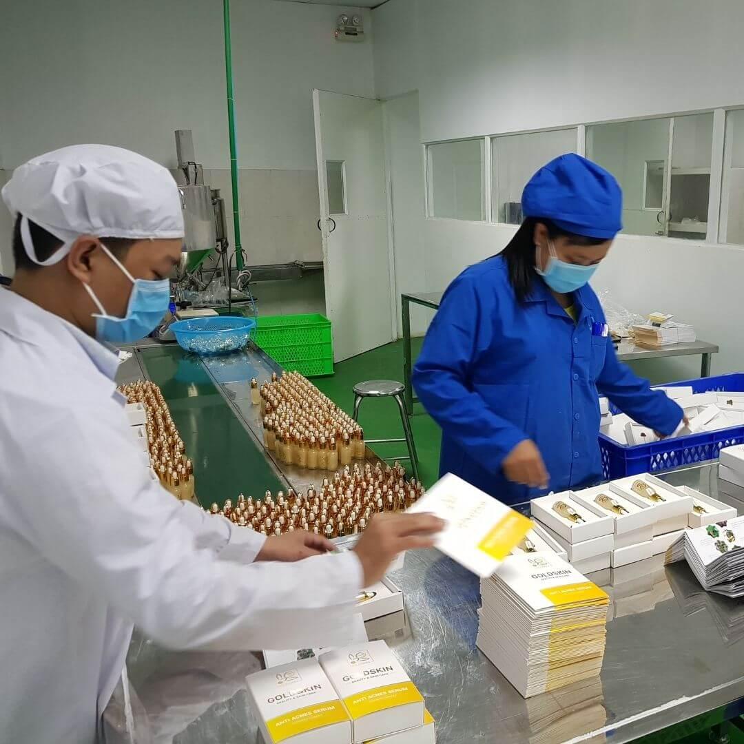 Công nghệ sản xuất dây chuyền khép kín Goldskin