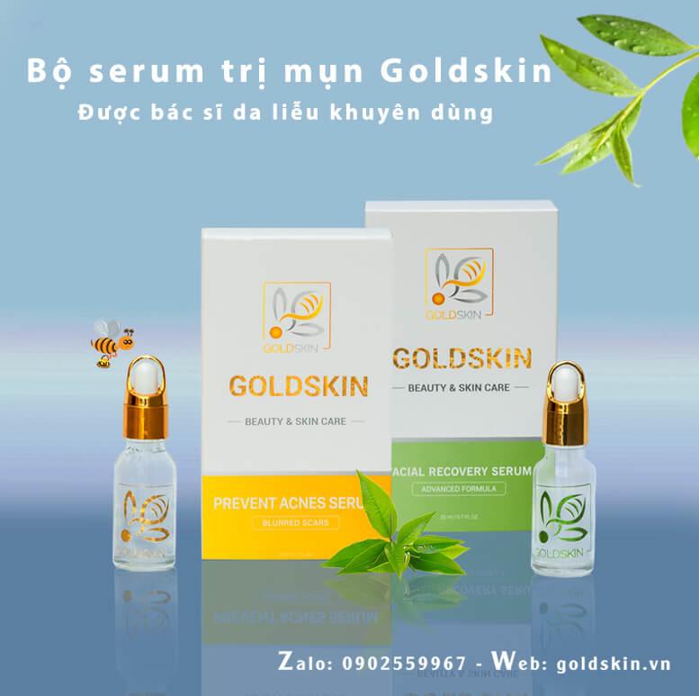 Serum trị mụn Goldskin lành tính