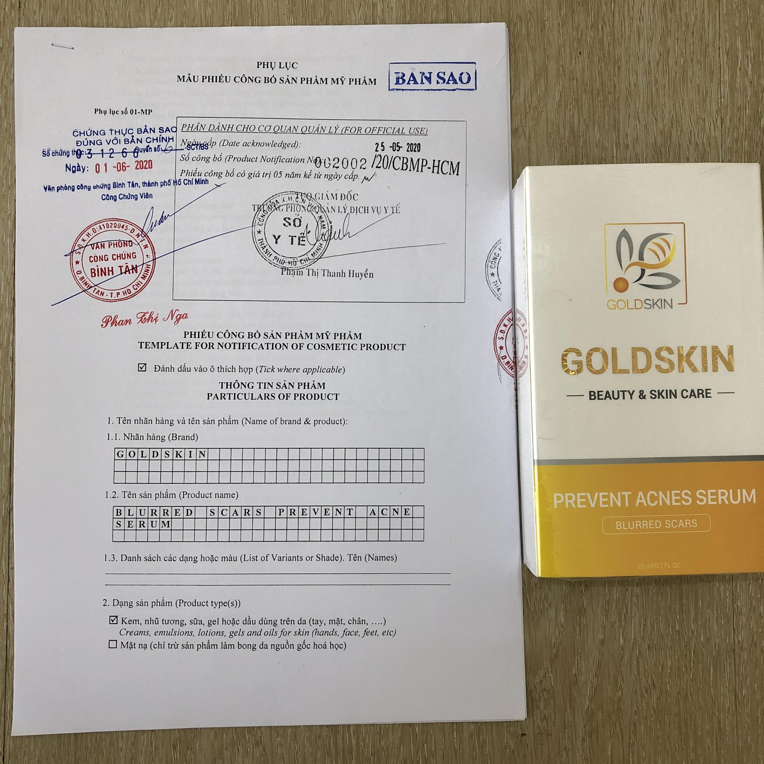Review trị mụn goldskin