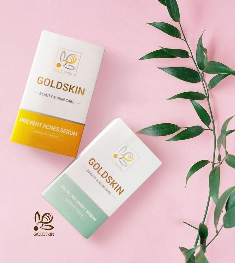 Serum trị mụn Goldskin được chiết xuất từ Nọc Ong - thành phần phổ biến trong việc điều trị thâm, viêm.