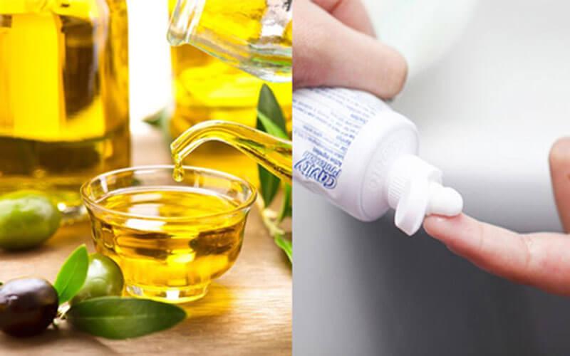 Kem đánh răng kết hợp với dầu oliu tạo thành hỗn hợp có công dụng tuyệt với để trị mụn