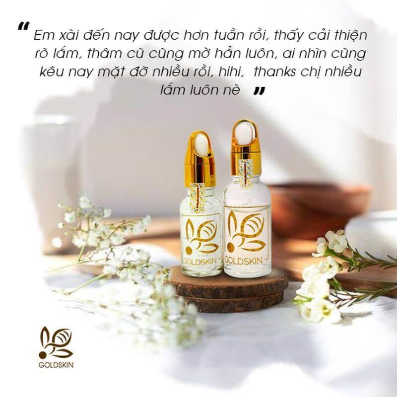 Sản phẩm serum trị mụn Goldskin được chiết xuất từ Nọc Ong giúp cải thiện dứt điểm tình trạng mụn và ngăn không cho mụn tái phát