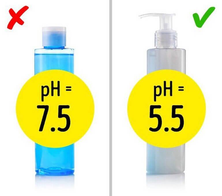 Sữa rửa mặt có độ pH từ 4,5 - 6,5 là phù hợp với da nhờn
