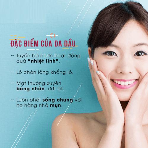 Các đặc điểm của da nhờn