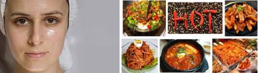 Các bạn sở hữu làn da dầu và có thói quen ăn các món ăn cay nóng thường dễ bị mụn ẩn