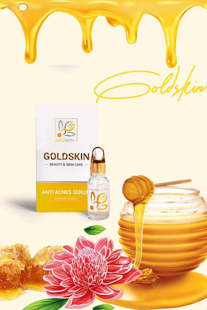 Serum Nọc Ong trị mụn Goldskin được xuất xứ tại Việt Nam