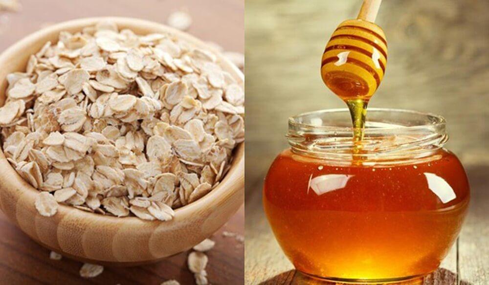Mật ong kết hợp với bột yến mạch có công dụng tuyệt với trong chăm sóc da