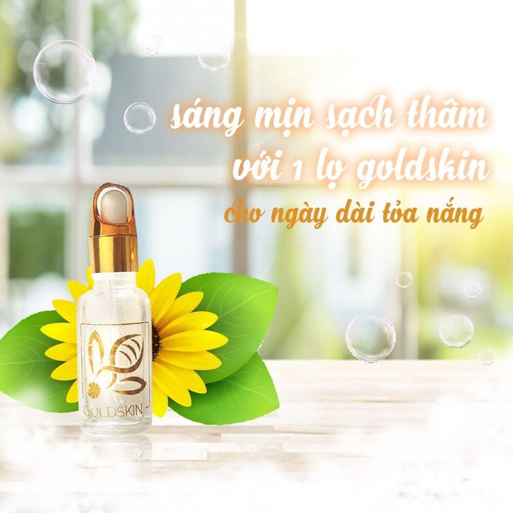 Goldskin được chiết xuất hoàn toàn từ thảo dược tự nhiên kết hợp cùng thành phần nọc ong