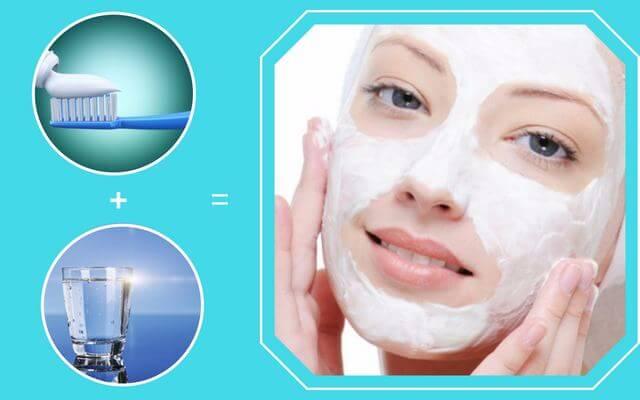 Kết hợp kem đánh răng và nước lọc để trị mụn đầu đen