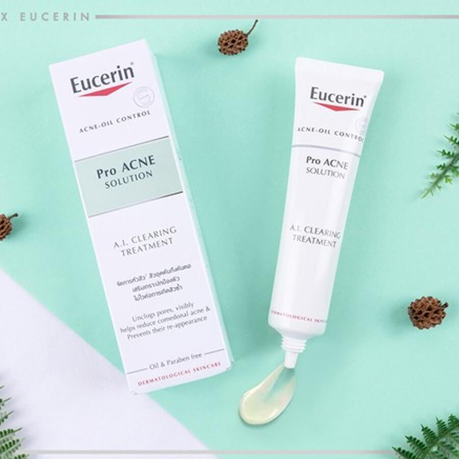 Kem trị mụn eucerin có ông dụng tiêu viêm, giảm sưng và kiểm soát nhờn cho da