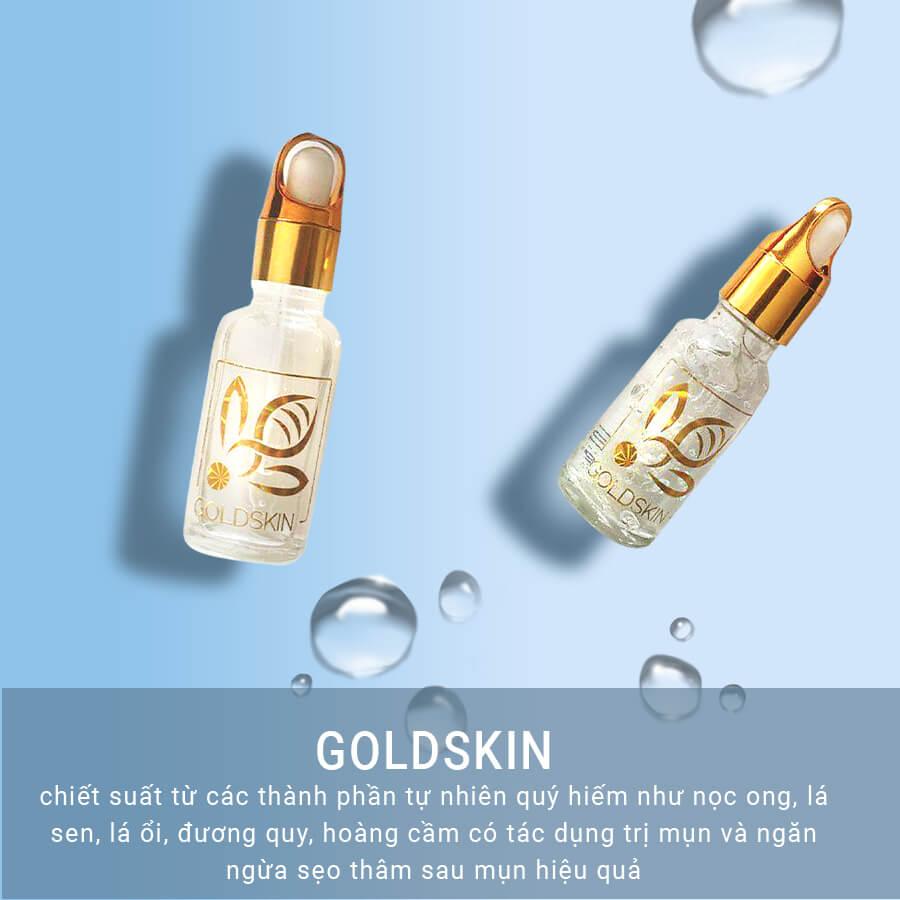 Goldskin được chiết xuất hoàn toàn từ thiên nhiên nên rất phù hợp với da tôi, lúc bấy giờ còn ở tuổi dậy thị