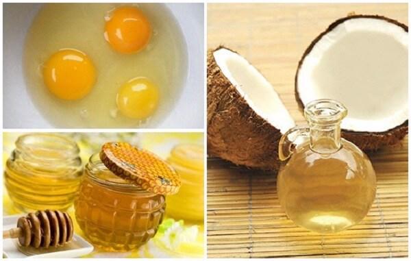 Sự kết hợp giữa lòng trắng trứng và dầu dừa giúp làm giảm sưng viêm, kiểm soát mụn hiệu quả