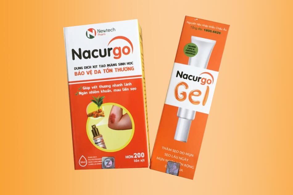 Còn nacurgo dạng xịt có khả năng cầm máu và làm lành vết thương nhanh chóng