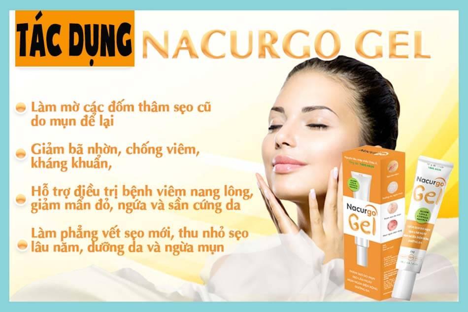 Công dụng của Nacurgo dạng gel