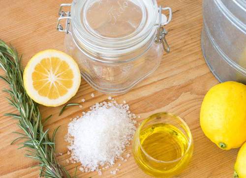 Kết hợp mật ong, chanh, muối