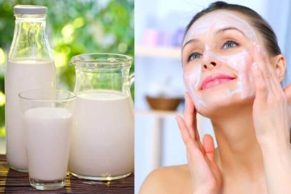 Sữa tươi không đường giúp trị mụn ẩn tại nhà