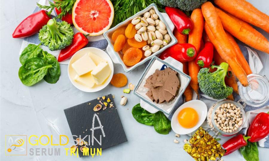 Có thể bổ sung các thực phẩm giàu vitamin A để hỗ trợ điều trị mụn