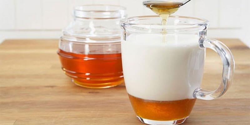 Sữa và mật ong được xem là sự kết hợp rất tuyệt vời để điều trị mụn đầu đen