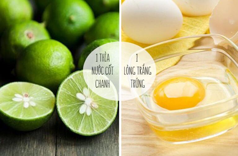 Kết hợp lòng trắng trứng và nước cốt chanh giúp loại bỏ mụn đầu đen