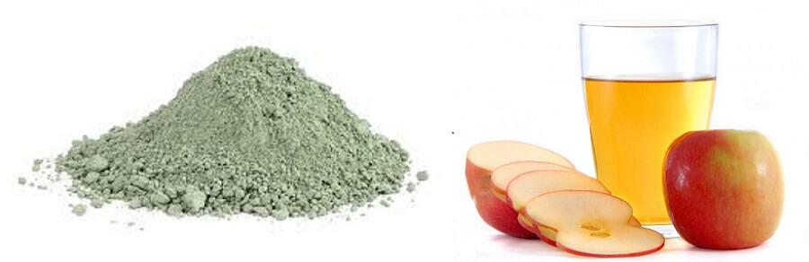 Hỗn hợp đất sét mỹ phẩm và giấm táo giúp da sạch nhờn