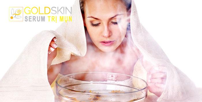 Hơi ấm sẽ giúp rửa sạch các lỗ chân lông