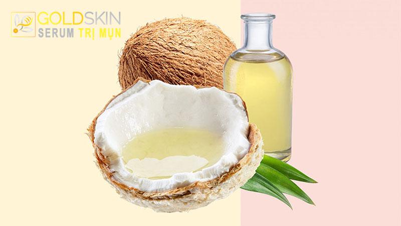 Dầu dừa chứa nhiều thành phần chất béo rất tốt cho làn da