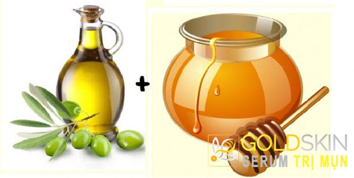 Mật ong có tác dụng sát khuẩn, trị mụn còn dầu ô liu giúp dưỡng da rất tốt