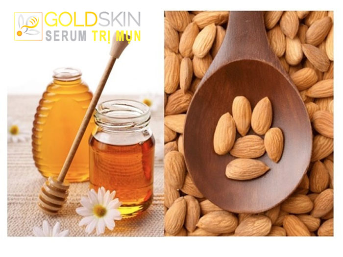 Mật ong và hạnh nhân ngoài tác dụng trị mụn còn giúp da mịn màng và mềm mại hơn