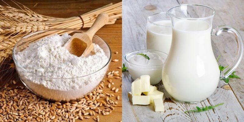 Mặt nạ cám gạo + sữa chua giúp se khít lỗ chân lông, kiểm soát dầu nhờn
