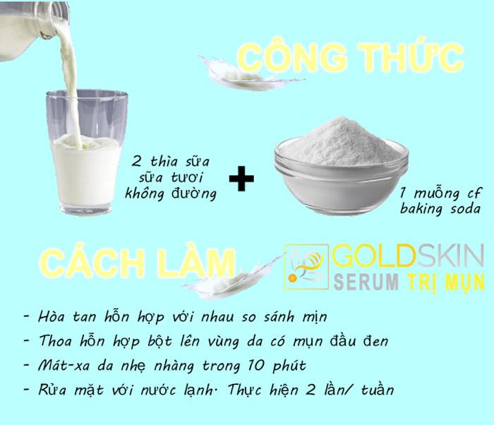 Sữa tươi giúp dưỡng da được mềm mịn, trắng da.