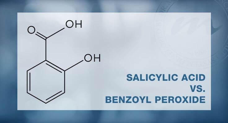 Dùng thuốc không kê toa có chứa các thành phần như axit salicylic, benzoyl peroxide