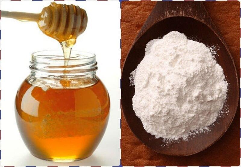 Kết hợp baking soda và mật ong