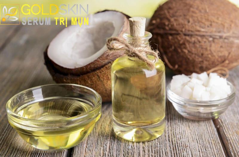 Những thành phần có trong dầu dừa rất tốt cho da đang bị mụn đầu đen