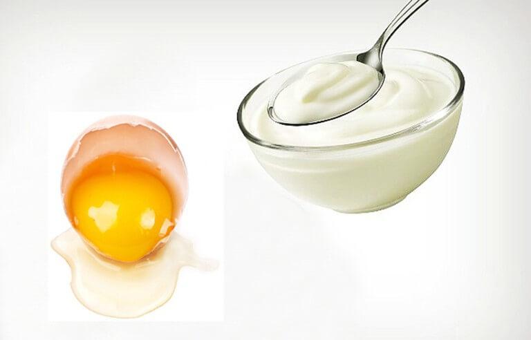 Kết hợp lòng trắng trứng với sữa chua sẽ đem đến một công thức dưỡng da rất tuyệt vời