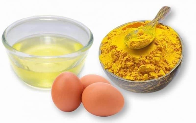 Nghệ có chứa hàm lượng thành phần Curcumin kết hợp với chất Retinol trong trứng gà có tác dụng kháng viêm