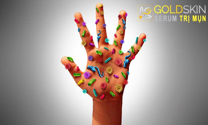 Bàn tay chứa rất nhiều vi khuẩn