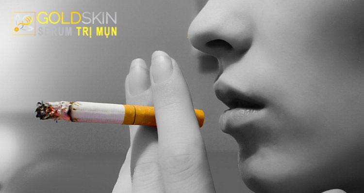 Người thường xuyên hút thuốc có thể gây tác động xấu đến sức khỏe của làn da