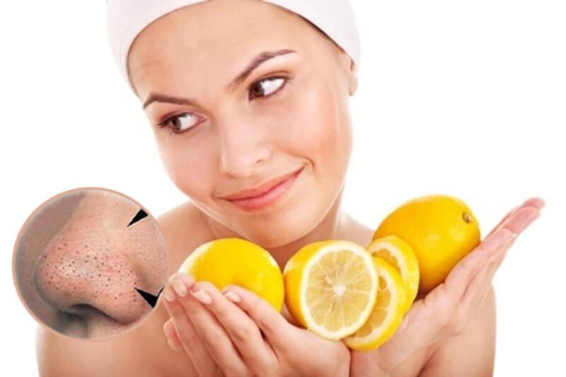 Chanh tươi là cách thông dụng và được phổ biến được áp dụng trong để loại bỏ nhân mụn đầu đen