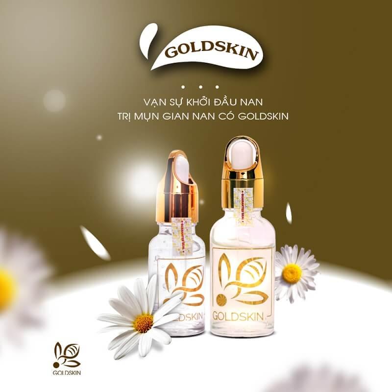 Ngoài chế độ ăn uống hợp lý thì dùng serum trị mụn Goldskin là rất cần thiết