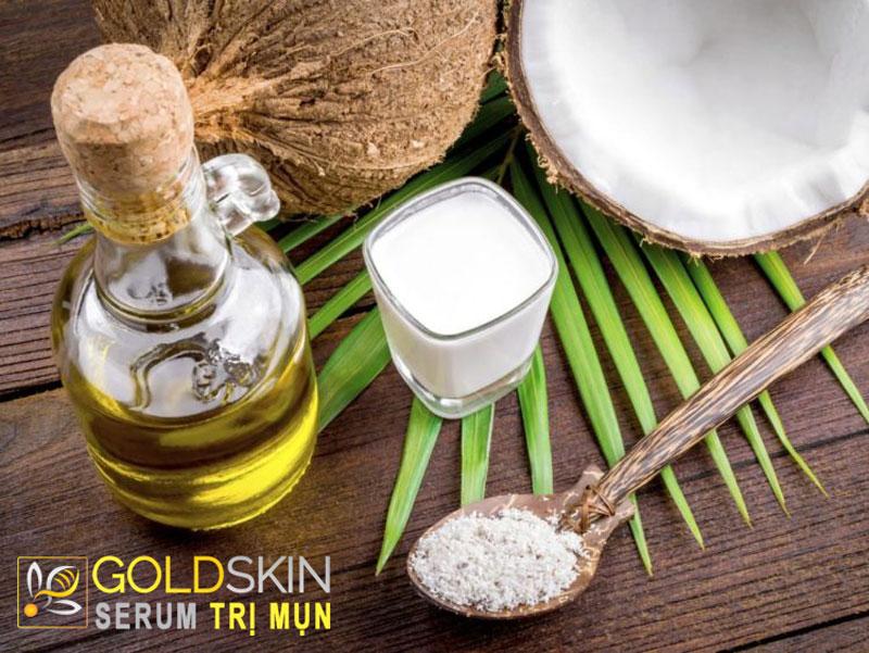 Cách trị mụn, dưỡng ẩm hiệu quả cho làn da từ tinh bột nghệ và dầu dừa
