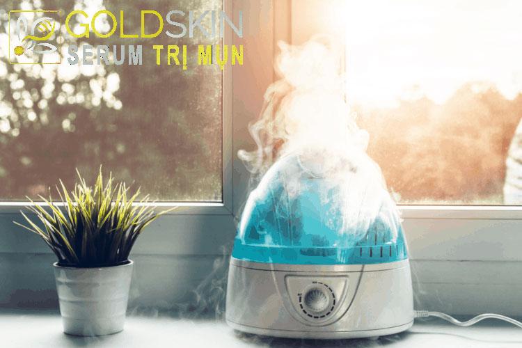 Sử dụng máy tạo độ ẩm để giảm tình trạng khô da
