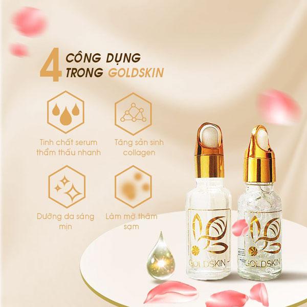 Goldskin là thương hiệu mỹ phẩm của Việt Nam rất tốt, có nhiều phản hồi tích cực sau khi sử dụng