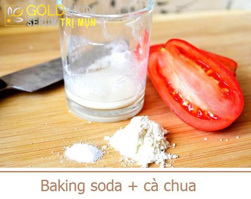Cách trị mụn đầu đen bằng baking soda và nước ép cà chua