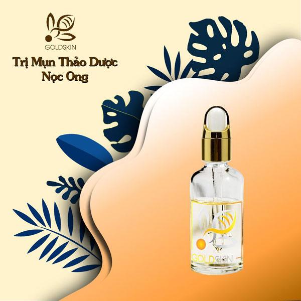 Serum trị mụn Goldskin - thương hiệu mỹ phẩm của Việt Nam với thành phần 100% thiên nhiên