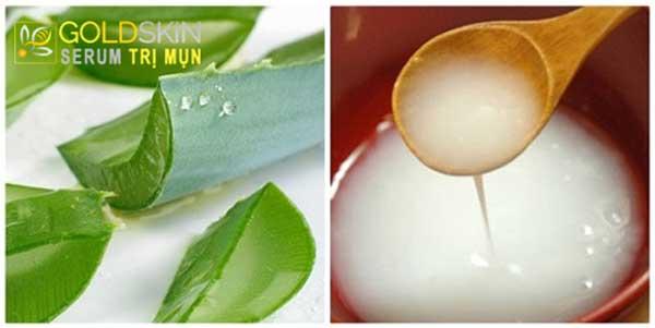 Công thức trị mụn bằng nước vo gạo và nha đam có thể kích ứng với làn da nhạy cảm