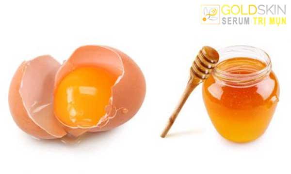 Phương pháp trị mụn thâm bằng trứng gà và mật ong