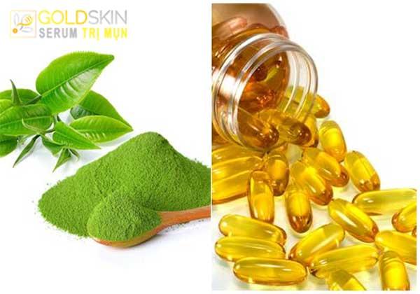 Mặt nạ trà xanh và vitamin E hỗ trợ chữa mụn và ngăn ngừa lão hóa