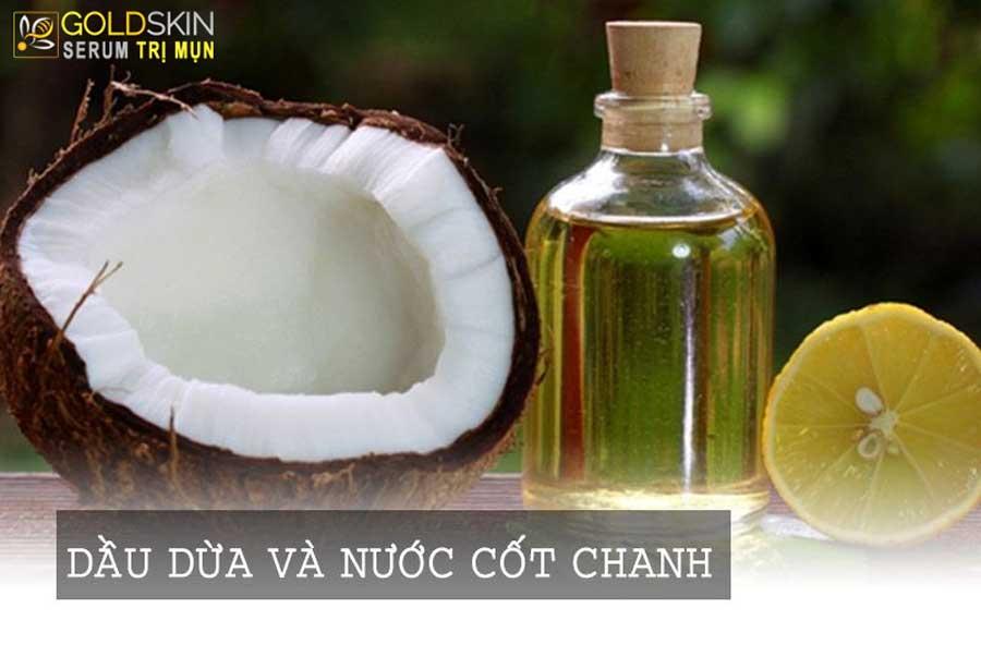 Mặt nạ dầu dừa – nước cốt chanh